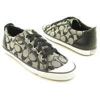 COACH Barrett Signature Jacquard Leather Fashion Sneaker Womens Shoes