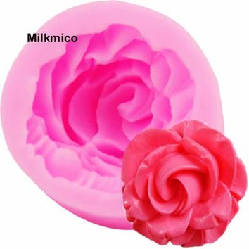 Rose mold for fondant cake mold | Silicone bakeware 3D liquid mold