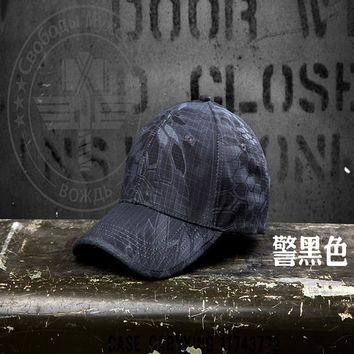 New camouflage hat men outdoor leisure cap rattlesnake python camouflage  Army fans
