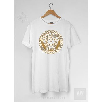 Vegeta DBZ Goku Versace Inspired Graphic Tee Unisex T Shirt
