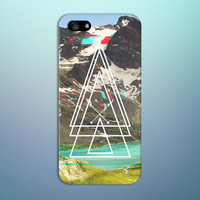 White Geometric Computer Glitch x Mountain Phone Case for iPhone 6 6 Plus iPhone 5 5s 5c 4 4s Samsung Galaxy s6 s5 s4 & s3 and Note 5 4 3 2