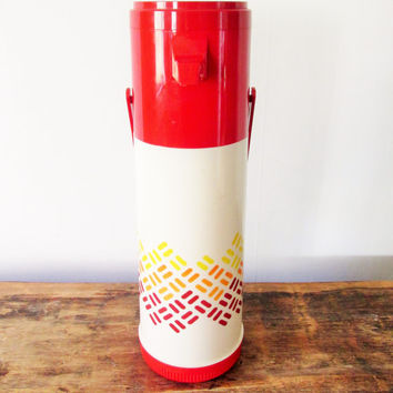 Vintage 1980s Aladdin Pump A Drink Thermos