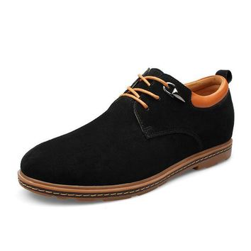 Mens Casual Lace Up Suede Shoes