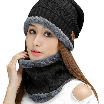 Womens Slouchy Beanie Winter Hat Knit Warm Snow Ski Skull Cap