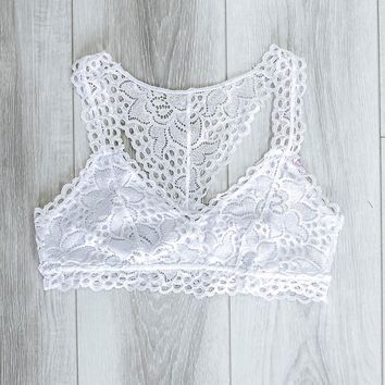 French Affair Bralette - White
