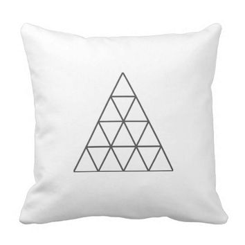 Minimalistic Pyramid Throw Pillow / Cushion