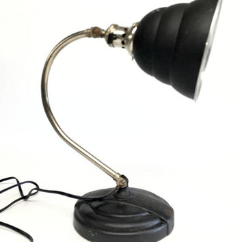 GE Lamp, General Electric Lamp, Beehive Lamp, Industrial Lamp, Mid Century Lamp, Art Deco Lamp, Retro Lamp, Black Desk lamp