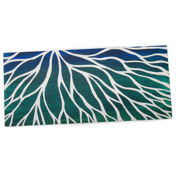 "NL Designs ""Ocean Flower"" Teal Green Desk Mat"