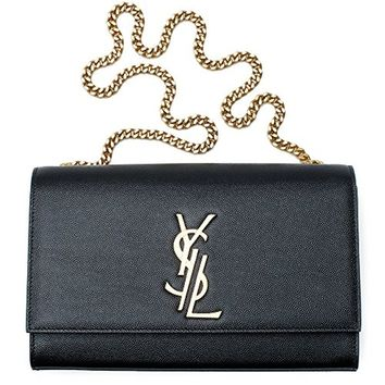 Yves Saint Laurent Kate Black Shoulder Bag Classic New