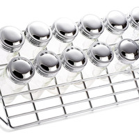 Countertop Spice Rack w/ 12 Jars, Kitchen Canisters, Canning & Spice Jars