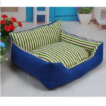 Hot Sale!Wear-resistant Dog Bed Puppy Cushion Kennel For Dog/Cat Blanket Plush Nest Cat Bed Cat Pet Bed With Removable Pillow