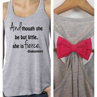 And Though she be but little she is FIERCE Tank Top. Crossfit Tank Top. Racerback Tank Top. Racerback Tank