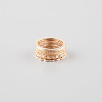 Full Tilt 8 Piece Ring Set Gold