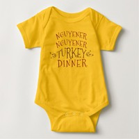 Nguyener Nguyener Turkey Dinner Baby Bodysuit