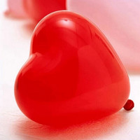 Valentine Red Heart Balloons (100 count)