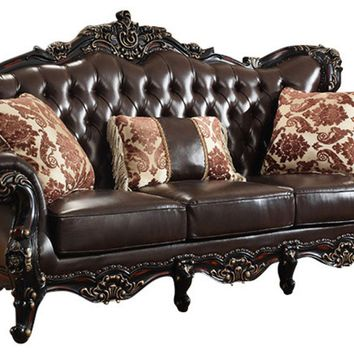Barcelona Brown Leather Sofa