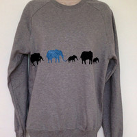 Elephant parade sweatshirt by TheLPHProject on Etsy