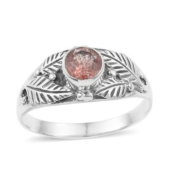 Artisan Crafted Cherry Quartz Sterling Silver Ring