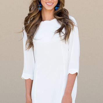 Full Circle Dress in White | Monday Dress