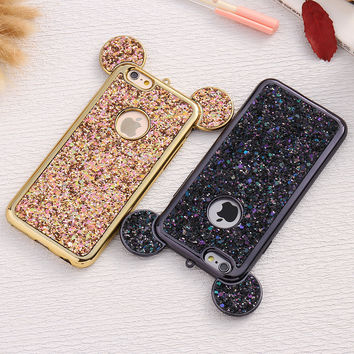 FLOVEME Elegant Fashion Bling Soft TPU Gel Phone Bag Case for iPhone 6 6s Plus Cover Shiny Silicon Coque for iPhone6 6s Plus Bag