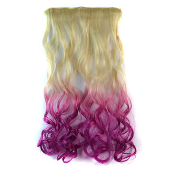 On Sale Beauty Sexy Hot Deal Hot Sale Wigs Gradient Beige Curly Hair Hair Extensions [4923176836]