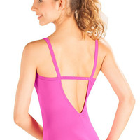 So Danca D292 Adult Camisole Leotard W/ Rhinestone Back Strap
