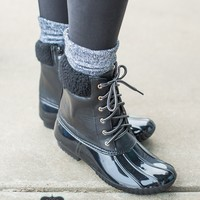 Black Sharon Duck Boots