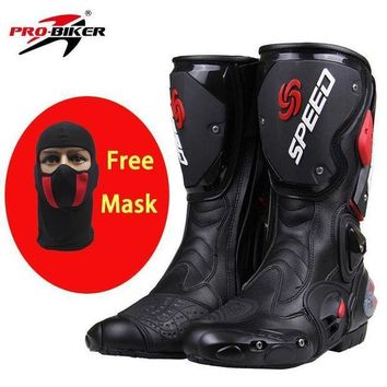 PRO-BIKER SPEED BIKERS Motorcycle Boots Moto Racing Motocross Off-Road Motorbike Shoes