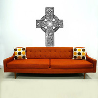 Celtic Cross Wall Decal Celtic Cross Decals Wall Vinyl Sticker Interior Home Decor Vinyl Art Wall Decor Bedroom SV5850