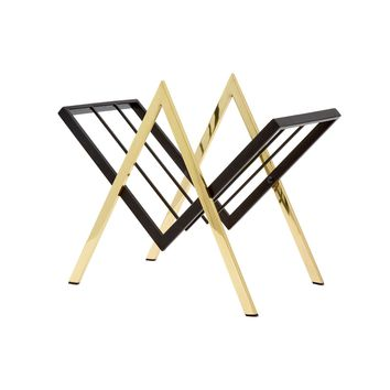Sutton Magazine Rack, Brass