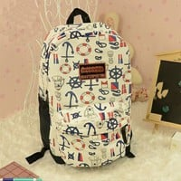 Cute blue fashion Anchor Backpack Bag