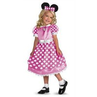 Clubhouse Minnie Mouse - Pink Costume - Medium (3T-4T) $33.24