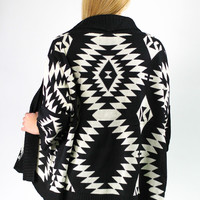 Falling from Summer Cardi - Black