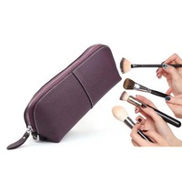 Beautician Cosmetic Bag - Genuine Leather