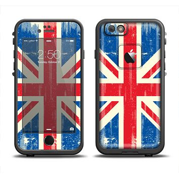 The Grunge Vintage Textured London England Flag Apple iPhone 6 LifeProof Fre Case Skin Set