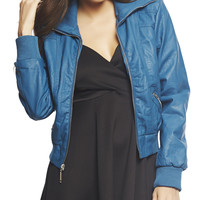 Faux Leather Bomber Jacket | Wet Seal