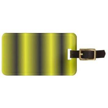 Yellow and Black Stripe Bumblebee Design Tag For Luggage