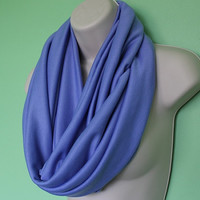 Blue knit infinity scarf, Periwinkle Sweater Scarf, knit Circle Scarf - Loop Scarf, Eternity Scarf, Fall Scarf, Winter Scarf