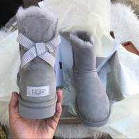 PEAPONV UGG Authentic Bailey bow boots