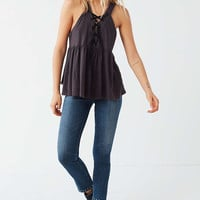 Truly Madly Deeply Lace-Up Babydoll Tank Top | Urban Outfitters