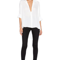 Bishop + Young Dolman Blouse in White