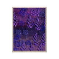 "Marianna Tankelevich ""Summer Night"" Purple Lavender KESS Naturals Canvas (Frame not Included)"