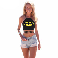 Batman Wrap Around Crop Top