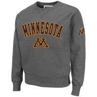 Colosseum Minnesota Golden Gophers Hardware Crewneck Sweatshirt