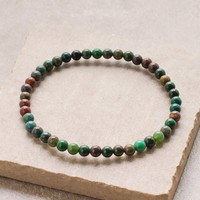 Bloodstone Mini Gemstone Energy Bracelet