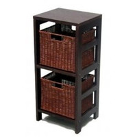 "Shelf - Espresso 2 Tier - Baskets Sold Separately (Espresso) (29.25""h x 13.5""w x 11.25""d)"