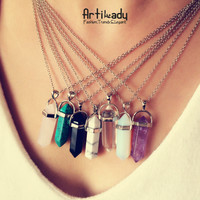 Quartz Pendant Necklaces