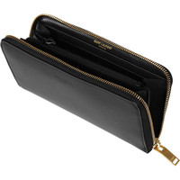 Saint Laurent | Classic embossed leather continental wallet  | NET-A-PORTER.COM