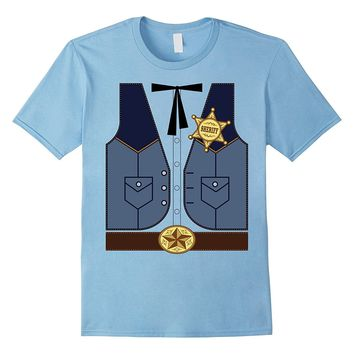 Western Cowboy Sheriff T-Shirt or Halloween Costume