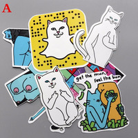 3 Style Combinations Fun Ripndip Waterproof Stickers For Car Laptop Luggage Skateboard Motorcycle Snowboard Decal Phone Sticker